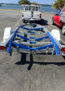 Boat Trailer Ribbed Bunks Angled