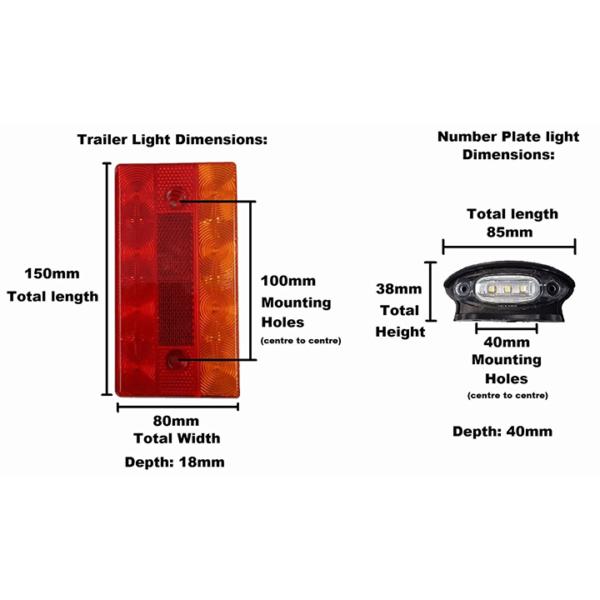led light kit sizes