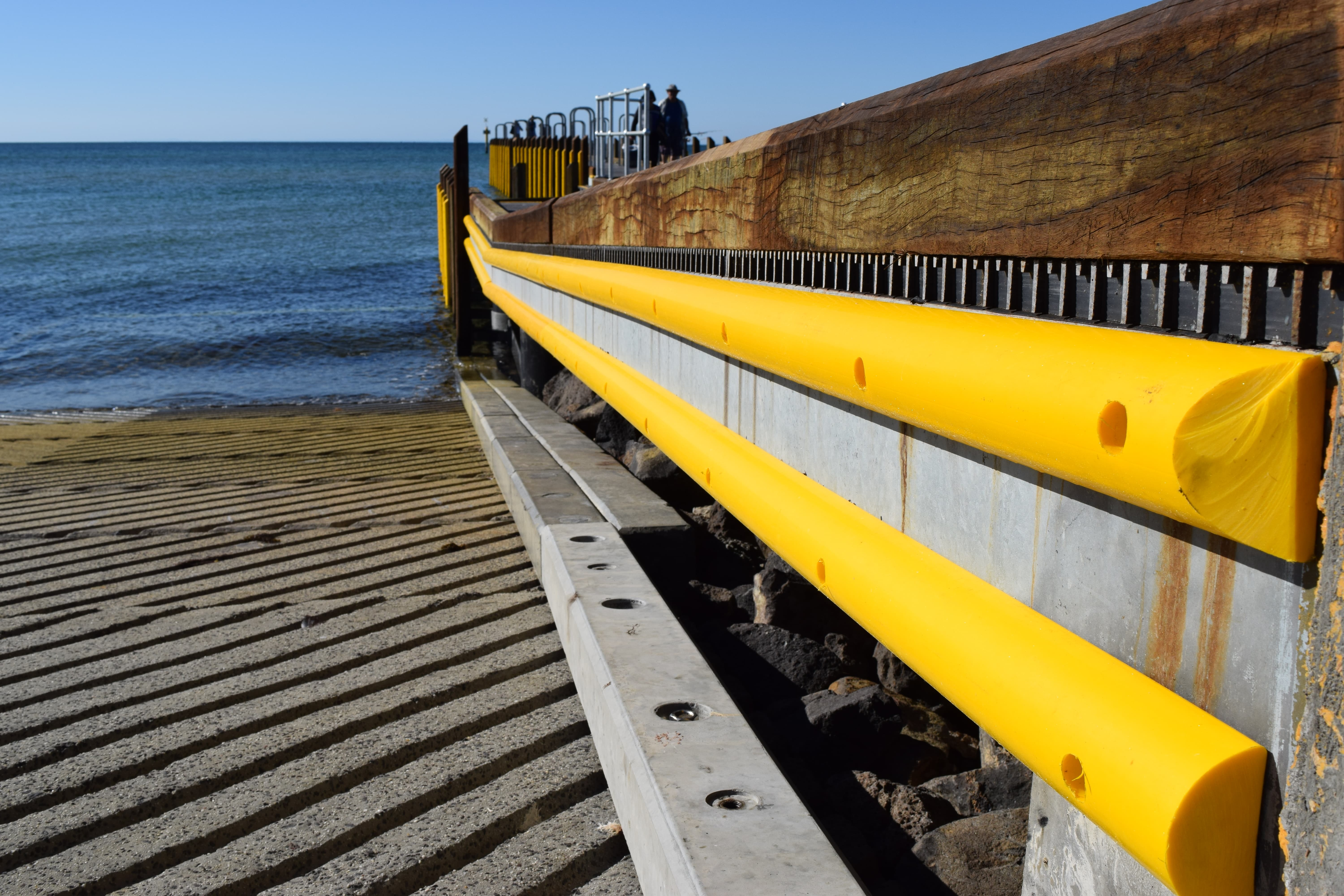 Yellow D Section Dock Fender Long